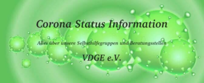 Corona Status Information – Alles über unsere Selbsthilfegruppen und Beratungsstellen