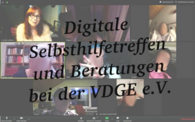 Ab 28. März: Jede Woche digitale Selbsthilfetreffen und Beratungen bei der VDGE e.V.