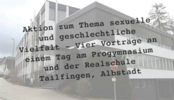 Aktion der Vielfalt – Vier Vorträge an einem Tag am Progymnasium und der Realschule Tailfingen, Albstadt