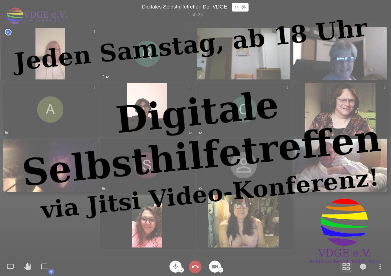 Digitales Video-Selbsthilfetreffen zum Thema Transsexualität, Transidentität und Geschlechtliche Varianten