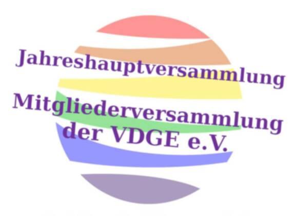 Öffentliche Mitgliederversammlung der VDGE e.V. am 15. November ab 18 Uhr über Zoom