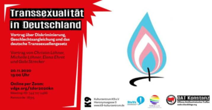#TDoR2020 - International Transgender Day of Remembrance 2020 in Konstanz 2