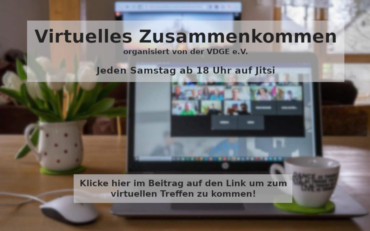 Virtuelles Zusammenkommen in den einsamen Zeiten der Pandemie an jedem Samstag ab 18 Uhr 1