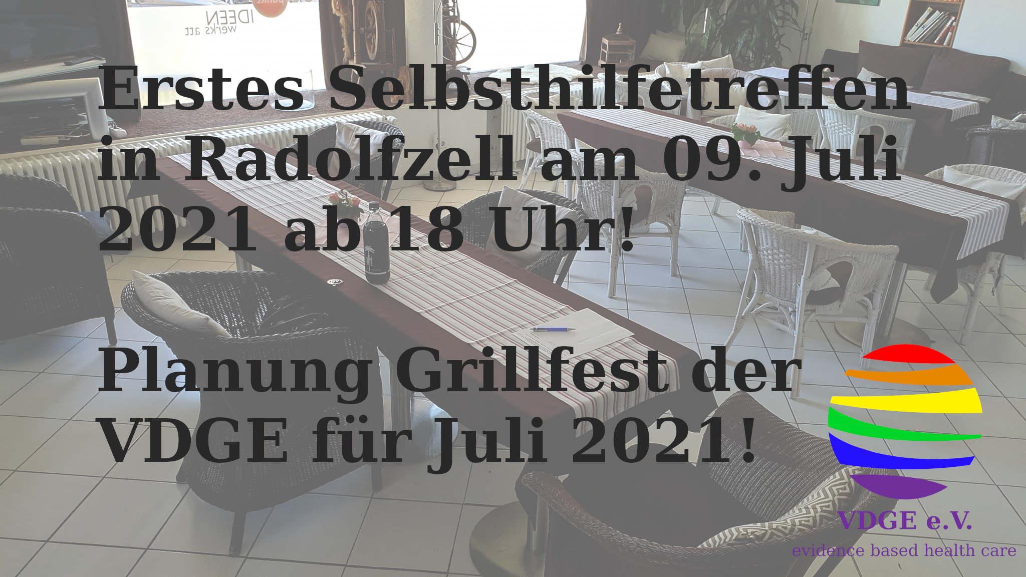 Erstes Selbsthilfetreffen in 2021 und Planung Grillfest